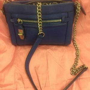 Beautiful blue leather Rebecca Minkoff purse